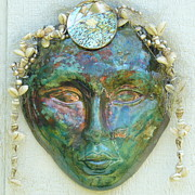 Sand Ceramics - Pele Dreams of a Green Sand Beach by Linda S Watson