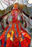 One Of A Kind Glass Art - Pele - Goddess of Fire by Marilynn Brandriff