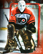 Goaltender Metal Prints - Pele Metal Print by Mike Oulton