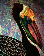 Catherine Mixed Media Prints - Pelican Print by Catherine Harms