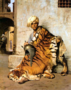 Pelt Prints - Pelt Merchant  Print by Jean Leon Gerome