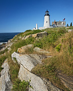 Pemaquid Lighthouse Framed Prints - Pemaquid Framed Print by Claudia Kuhn