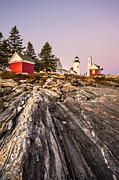 Pemaquid Lighthouse Framed Prints - Pemaquid Dusk Framed Print by Robert Clifford
