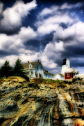 Maine Lighthouses Posters - Pemaquid Fantasy Poster by Skip Willits