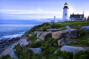 Pemaquid Lighthouse Framed Prints - Pemaquid Light at Sunset Framed Print by Diana Powell