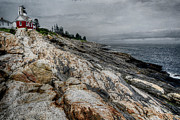 Pemaquid Posters - Pemaquid Light Poster by Joan Carroll