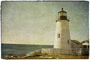 Vintage Style Posters - Pemaquid Lighthouse 2 Poster by Cindi Ressler