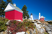 Nubble Lighthouse Metal Prints - Pemaquid Lighthouse 2 Metal Print by Emmanuel Panagiotakis
