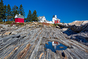 Nubble Lighthouse Posters - Pemaquid Lighthouse 4 Poster by Emmanuel Panagiotakis
