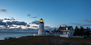 Pemaquid Lighthouse Posters - Pemaquid Lighthouse Dawn Poster by Paul Treseler