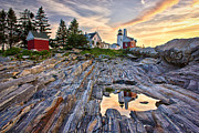 Pemaquid Point Framed Prints - Pemaquid Lighthouse Reflection Framed Print by Benjamin Williamson