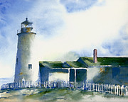 Pemaquid Lighthouse Painting Framed Prints - Pemaquid Lighthouse Framed Print by William Beaupre