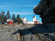 Pemaquid Lighthouse Posters - Pemaquid Point 22 Poster by Joseph Marquis