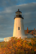 Maine Lighthouses Photo Posters - Pemaquid Point Light III Poster by Clarence Holmes
