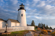 Maine Lighthouses Photo Posters - Pemaquid Point Light V Poster by Clarence Holmes