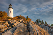Maine Lighthouses Photo Posters - Pemaquid Point Light VI Poster by Clarence Holmes