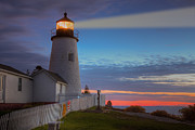 Pemaquid Lighthouse Posters - Pemaquid Point Light VIII Poster by Clarence Holmes