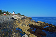 Bristol Photo Originals - Pemaquid Point Lighthouse by Gail Smith