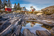 Rocks. Tidal Pool Posters - Pemaquid Reflection Poster by Robert Clifford
