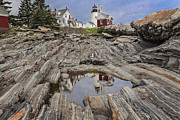 Maine Pyrography - Pemaquid Reflection by Romiana Lee