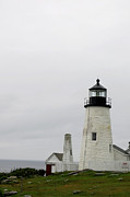 Pemaquid Lighthouse Framed Prints - Pemaquids Lighthouse 2 Framed Print by Jean Macaluso