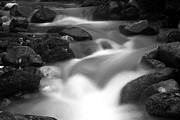 White River Prints - Pemi in Black and White Print by Amanda Kiplinger