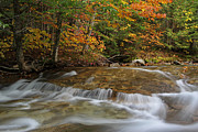 New England Acrylic Prints - Pemigewasset River Cascades in Autumn by Juergen Roth