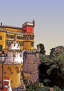 Pena Framed Prints - Pena Palace in Sintra Framed Print by Linda  Parker