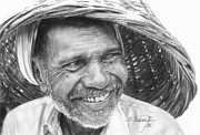 Ralph N Murray III - Pencil Drawing Old India...