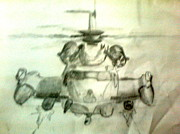 Chopper Drawings - Pencil Sketch by Pradeep Yadav