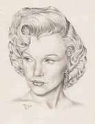 Richard Mountford Prints - Pencil Study of Marylin Monroe Print by Richard Mountford