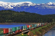 Burlington Northern Posters - Pend Oreille Freight Poster by Benjamin Yeager