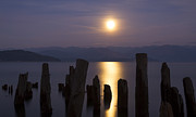 Lake Pend Oreille Prints - Pend Oreille Moon Print by Idaho Scenic Images Linda Lantzy