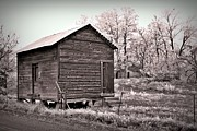 Neurotic Images Photography Prints - Pendleton Frosty Morning Sepia Print by Chalet Roome-Rigdon