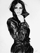 Pirates Drawings Posters - Penelope Cruz Poster by Desire Doecette