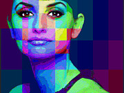 Pop Icon Mixed Media Posters - Penelope Cruz Sanchez Poster by Tony Rubino