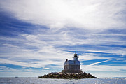Nautical Art Prints - Penfield Reef Lighthouse Fairfield Connecticut Print by Stephanie McDowell