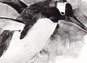Penguin Drawings - Penguin 2 by Bari Titen
