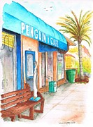 Laguna Beach Paintings - Penguin Cafe in Laguna Beach CA by Carlos G Groppa