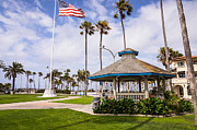 Gazebo Framed Prints - Peninsula Park in Newport Beach Orange County Framed Print by Paul Velgos