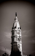 City Hall Photo Framed Prints - Penn Watching Framed Print by Olivier Le Queinec