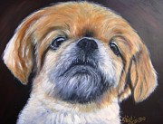 Head Shot Painting Prints - Penney Print by Shirl Theis