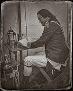 Redcoat Art - Penning a Letter to King George the Third   by Priscilla Burgers