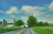 Amish Farms Framed Prints - Pennsylvania Amish Farm Framed Print by Dyle   Warren