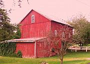Pa Barns Prints - Pennsylvania Barn  Cira 1700 Print by Eric  Schiabor