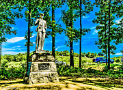 Confederate Monument Prints - Pennsylvania Bucktails at Gettysburg Battleground Print by Nadine and Bob Johnston