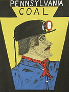 Miners Paintings - Pennsylvania Coal Miner by Jeffrey Koss