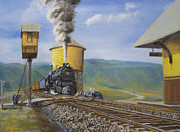 Water Tower Paintings - Pennsylvania Crossing by Christopher Jenkins