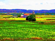 Amish Farms Photo Prints - Pennsylvania Farm II Print by Annie Zeno