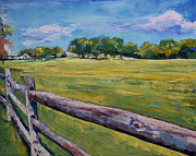 Pennsylvania Painting Posters - Pennsylvania Farm Poster by Michael Creese